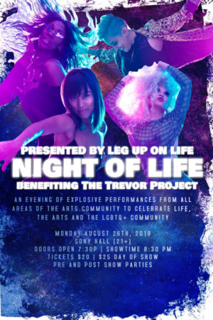 Leg Up On Life to Host NIGHT OF LIFE Benefit for The Trevor Project