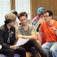 Photo Flash: Green Day Visits AMERICAN IDIOT Rehearsals