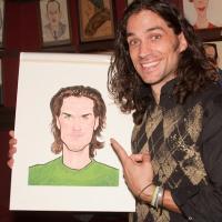 Photo Coverage: HAIR Stars Gavin Creel and Will Swenson Unveil Their Sardi's Portraits