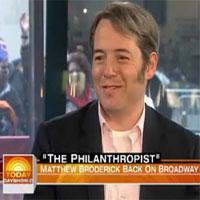 STAGE TUBE: THE PHILANTHROPIST Star Matthew Broderick on NBC's Today Show