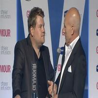 STAGE TUBE: Corden and Stewart Confrontation At Glamour Awards