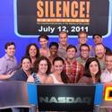 Photo Flash: SILENCE! The Musical Rings NASDAQ Closing Bell