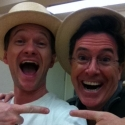 Photo Flash: Neil Patrick Harris and Stephen Colbert in Rehearsal for COMPANY!