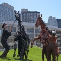 Photo Flash: WAR HORSE Puppets Visit Illumination Lawn