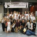 Photo Flash: ALADDIN Cast Congratulates MORMON's Casey Nicholaw at Seattle's 5th Avenue Theatre!