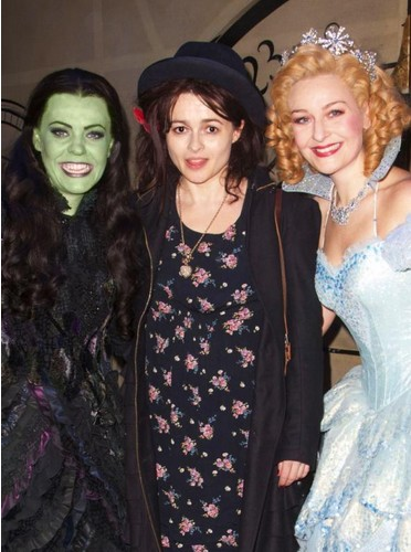 Photo Flash: Helena Bonham Carter Poses at WICKED in London Last Night