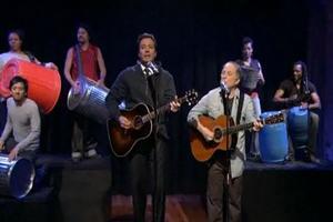 STAGE TUBE: STOMP Performs 'Cecelia' with Jimmy Fallon & Paul Simon
