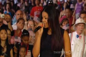 STAGE TUBE: Jordin Sparks Sings BEAUTY & THE BEAST for A CAPITOL FOURTH Concert!