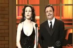 STAGE TUBE: Bebe Neuwirth & Nathan Lane at the 2010 Tonys!