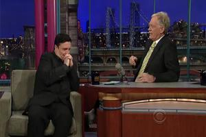 STAGE TUBE: Nathan Lane Visits Letterman!