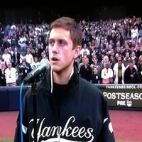 STAGE TUBE: Aaron Tveit Sings 'God Bless America' at Yankees Game!