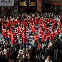 STAGE TUBE: GODSPELL Flash Mobs Times Square- The Official Video!