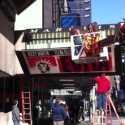 STAGE TUBE: EVITA Marquee Going Up!