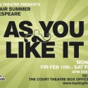 AS YOU LIKE IT Set for 2012 Open Air Shakespeare Festival, 2/10