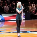 STAGE TUBE: LYSISTRATA JONES' Patti Murin Opens Knicks Game with National Anthem!