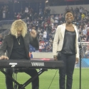 Photo Flash: MEMPHIS' Montego Glover & David Bryan Perform National Anthem at RedBulls Game