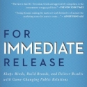 'For Immediate Release' Makes Amazon.com PR Bestseller List