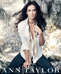 Demi Moore Returns As Face Of Ann Taylor's Holiday Campaign