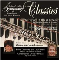 The Inland Valley Symphony Presents CLASSICS: Romeo & Juliet 2/18