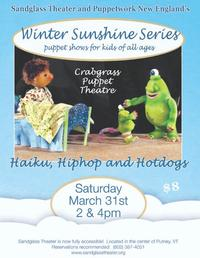 Crabgrass Puppet Theatre Presents HAIKU, HIPHOP AND HOTDOGS, 3/31