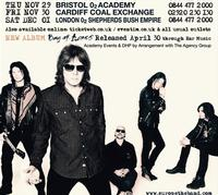 EUROPE Announces UK Tour for November