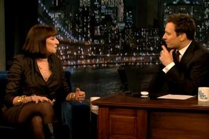 STAGE TUBE: Anjelica Huston Talks SMASH with Jimmy Fallon