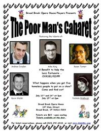 Broad Brook Opera House Players to Present THE POOR MAN'S CABARET, Beg. 7/13