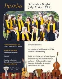 Nevenka East European Folk Ensemble Set for LA's Atwater Crossing, 7/21
