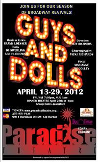 Paradise Theatre Presents GUYS and DOLLS, 4/13-29