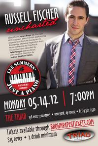 NYC's Triad Theatre Presents JERSEY BOYS' Russell Fischer in UNCHARTED, 5/14