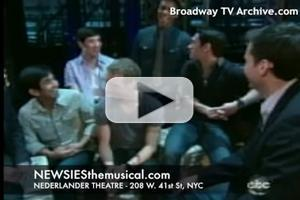 STAGE TUBE: Behind the Scenes of Disney's NEWSIES on ABC Nightline