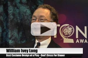 BWW TV Special: 2012 Tony Nominees - William Ivey Long on Earning His Twelfth Tony Nod!