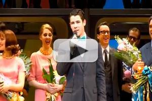 STAGE TUBE: Nick Jonas Says Goodbye at HOW TO SUCCEED's Last Performance