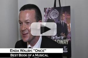 BWW TV: Enda Walsh on His Tony Win for Best Book Of A Musical for ONCE - It's All A Blur!