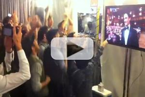 STAGE TUBE: NEWSIES Cast Reacts Backstage to Christopher Gattelli's Tony Win