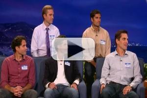 STAGE TUBE: Mitt Romney's Five Sons Visit CONAN