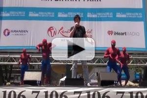 BWW TV: SPIDER-MAN Performs at Broadway in Bryant Park 2012!
