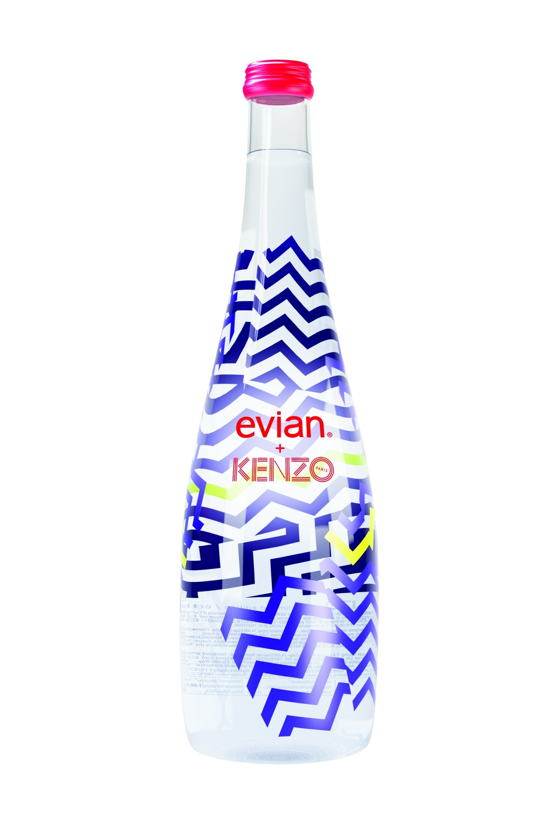 Kenzo designs limited edition evian bottle - Collection bouteille evian ...