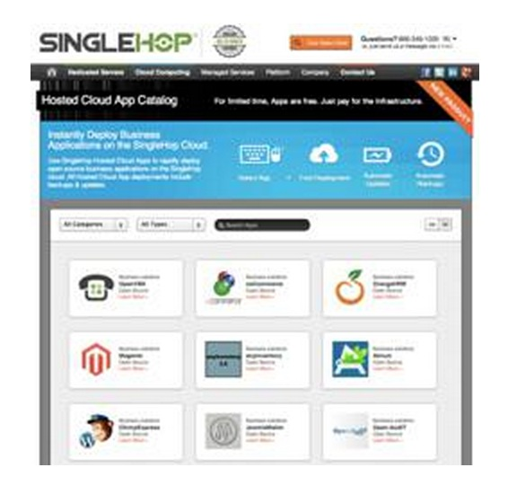 SingleHop Debuts Hosted Cloud Apps Built