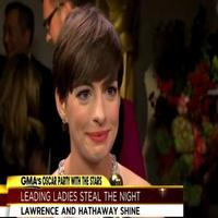 STAGE TUBE: Oscar Winners Hathaway & Lawrence Chat with GMA
