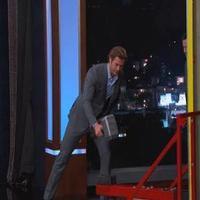 VIDEO: 'THOR's Chris Hemsworth Takes on Superhero Strongman Challenge on KIMMEL