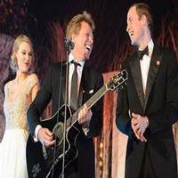 VIDEO: Prince William Rocks Out with Bon Jovi and Taylor Swift!
