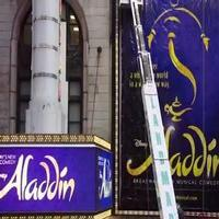 STAGE TUBE: Watch the ALADDIN Marquee Go Up at the New Amsterdam!
