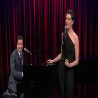 VIDEO: Anne Hathaway, Jimmy Fallon Perform Hip Hop with a Broadway Twist