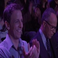 STAGE TUBE: Seth Meyers & Lester Holt Bring 'Forced Friendship' to Off-Broadway's STOMP
