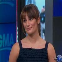 VIDEO: Lea Michele Talks GLEE, Streisand, Broadway & More on GMA
