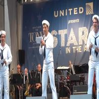 BWW TV: ON THE TOWN's Broadway-Bound Sailors Storm Shubert Alley, Offer Performance Preview