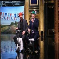 VIDEO: Hugh Jackman Talks Tonys, Races on Cooler Scooter on FALLON
