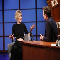 VIDEO: 'X-Men's Jennifer Lawrence Talks Punching Hugh Jackman on LATE NIGHT