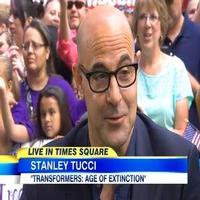 VIDEO: Stanley Tucci Talks Battling Malicious Robots in New TRANSFORMERS Film